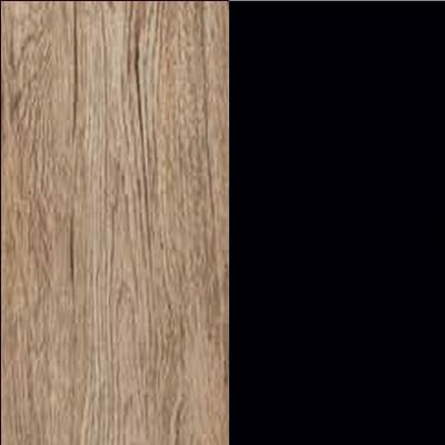 ZA657 : Sanremo Oak Light with Matt Black Glass Front