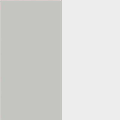ZA605 : Matt Silk Grey with Crystal White Glass Front