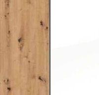 Artisan Oak Carcase and High Polish White Front AC214
