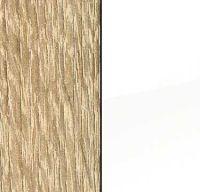 Sonoma Oak Carcase and High Polish White Front AC210