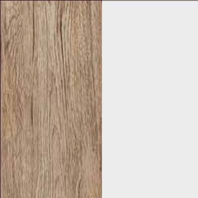 ZA655 : Sanremo Oak Light with Matt Crystal White Glass Front