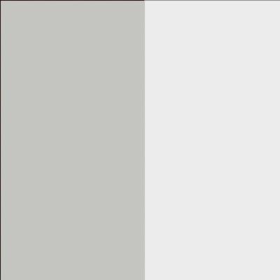 ZA615 : Matt Silk Grey with Matt Crystal White Glass Front
