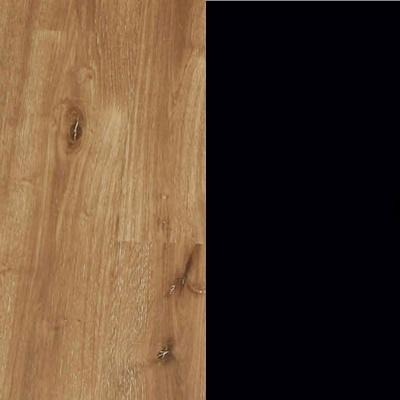 ZA697 : Atlantic Light Oak with Matt Black Glass Front