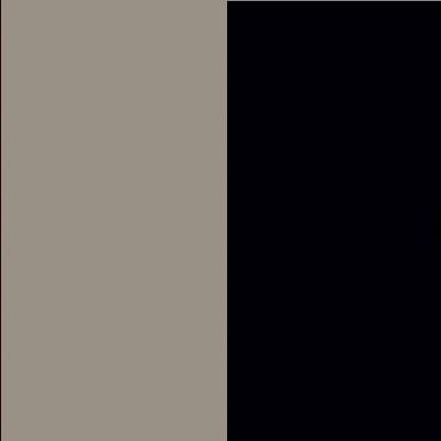 ZA527 : Matt Fango with Matt Black Glass Front