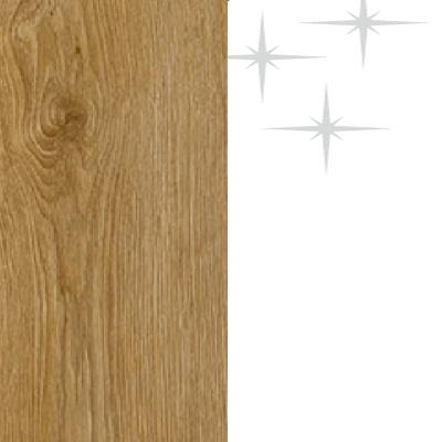 ZA375 : Natural Royal Oak with High Gloss White Front