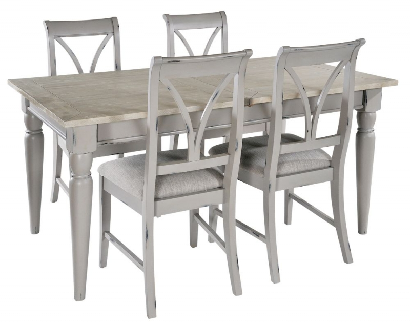 Rowico Warwick Grey Extending Dining Table