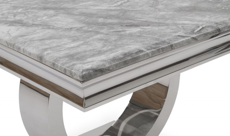 Buy vida living arianna grey marble lamp table with stainless steel vida living arianna grey marble lamp table with stainless steel base mozeypictures Gallery
