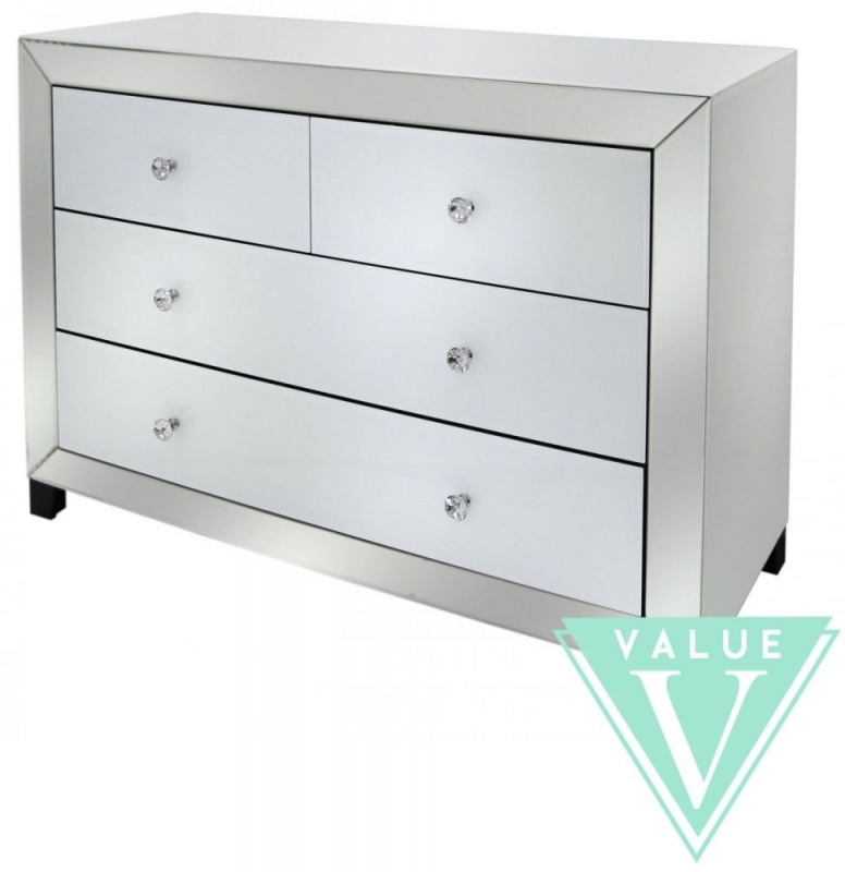 Big Mirrored Chest Of Drawers Feat Mode Gl Furniture