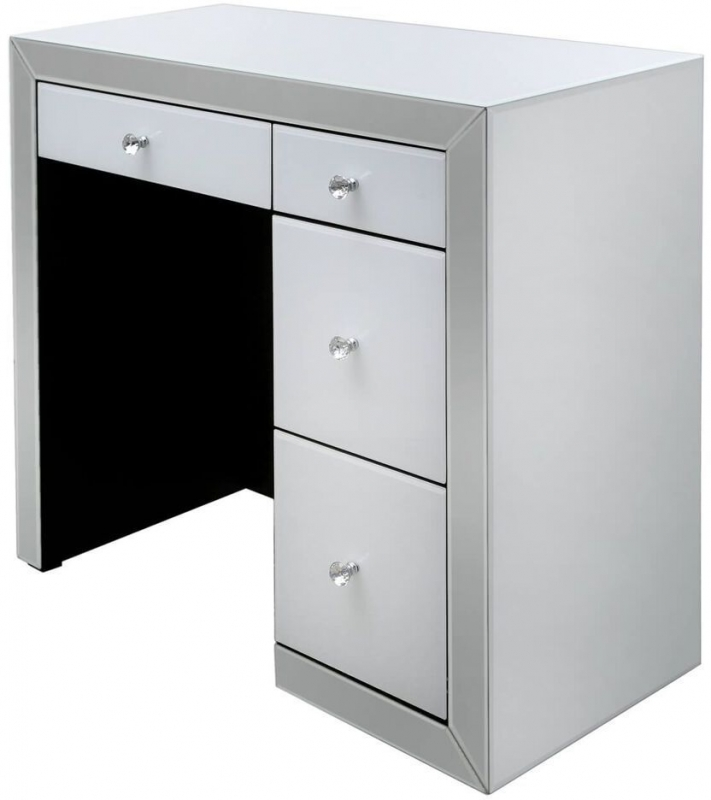 Salerno White Mirrored Dressing Table
