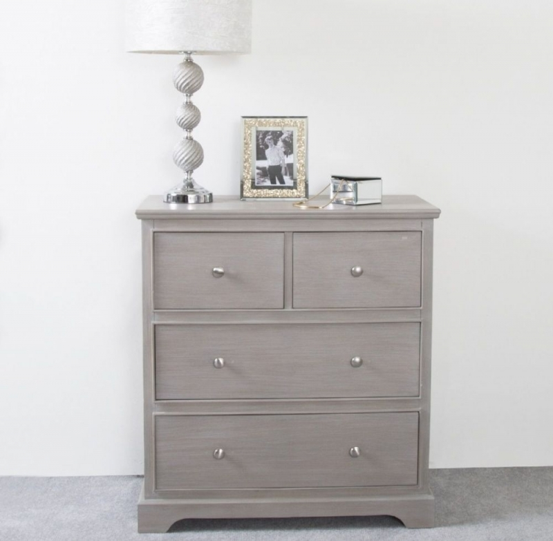 Serra Taupe 2+2 Drawer Chest