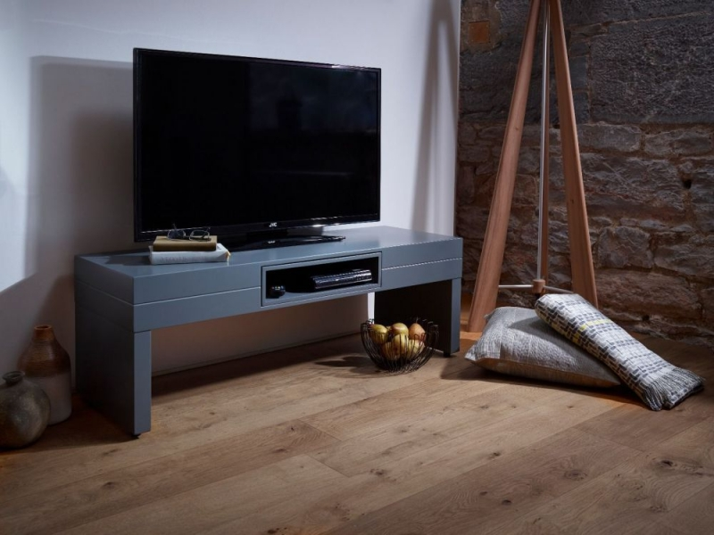 Victoria Graphite TV Unit with Graphite Accent