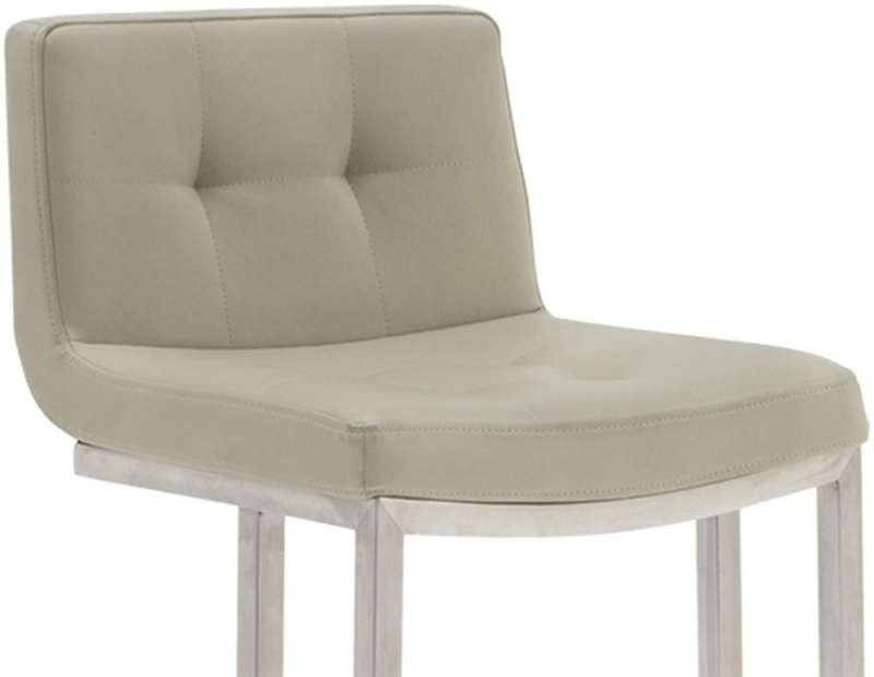 Vida Living Elstra Barstool (Pair) - Taupe Faux Leather