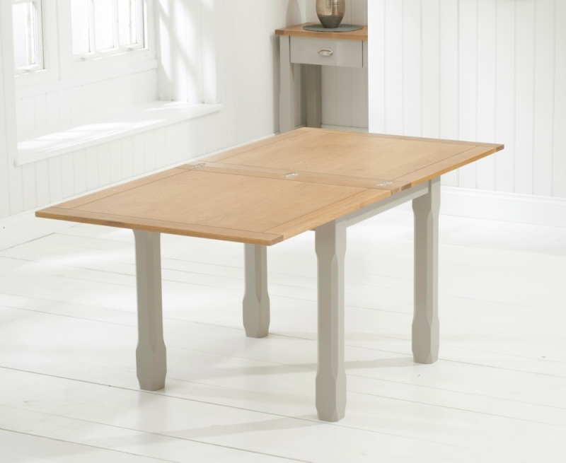 Mark Harris Sandringham Oak and Grey Square Flip Top Extending Dining Table