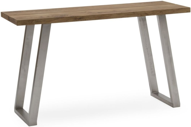 Vida Living Trier Console Table - Oak and Chrome