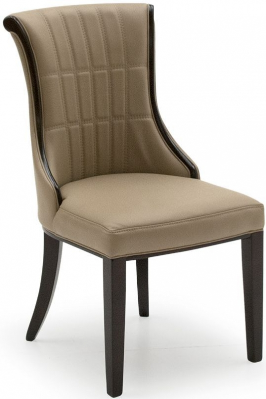 Vida Living Regina Taupe Faux Leather Dining Chair Pair