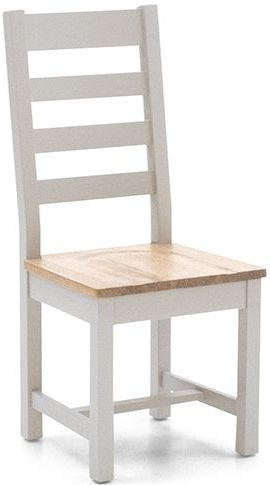 Vida Living Ferndale Grey Painted Ladder Back Dining Chair (Pair)