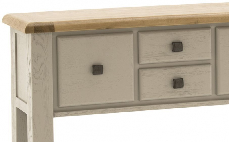 Vida Living Logan Console Table - Taupe and Oak Painted