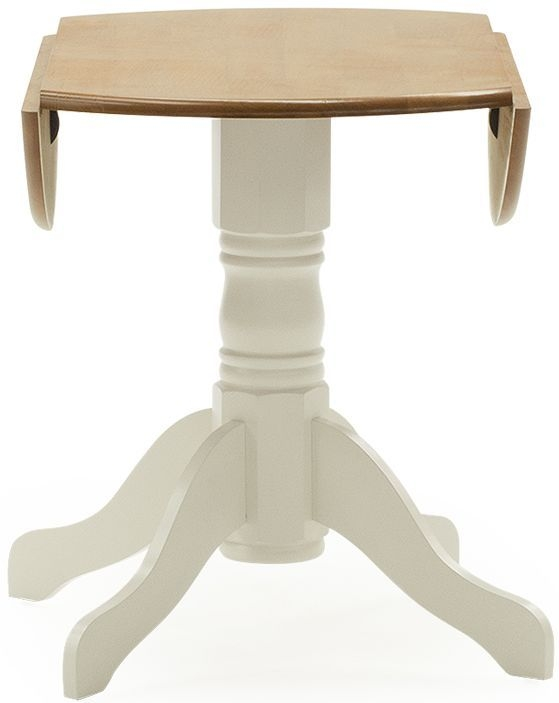 Buy Vida Living Brecon Buttermilk Round Drop Leaf Dining Table