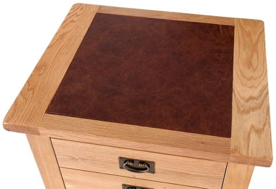 Buy vancouver premium solid oak 1 drawer lamp table with leather top vancouver premium solid oak 1 drawer lamp table with leather top mozeypictures Gallery