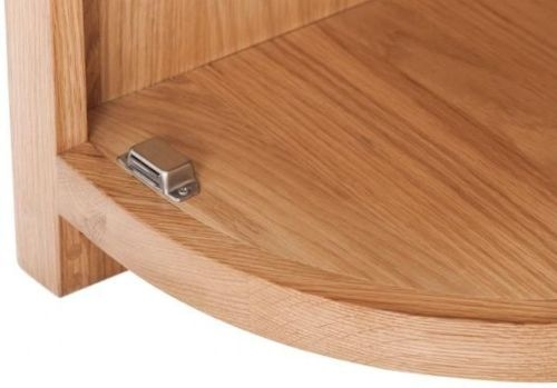 Handmade Oak 1 Right Door Curved End Cabinet