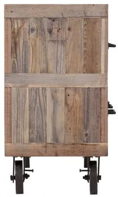 Buy reclaimed wood and metal 6 drawer dresser with wheels for Buy reclaimed wood online