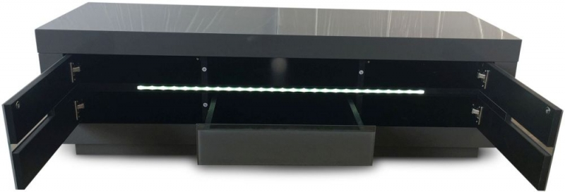 Monte Carlo Grey High Gloss TV Unit with LED