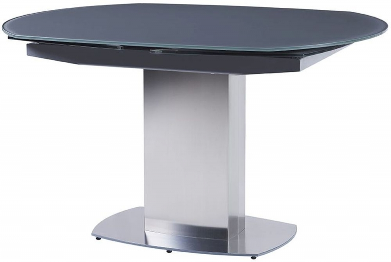 Olivia Grey Glass Rectangular Extending Dining Table