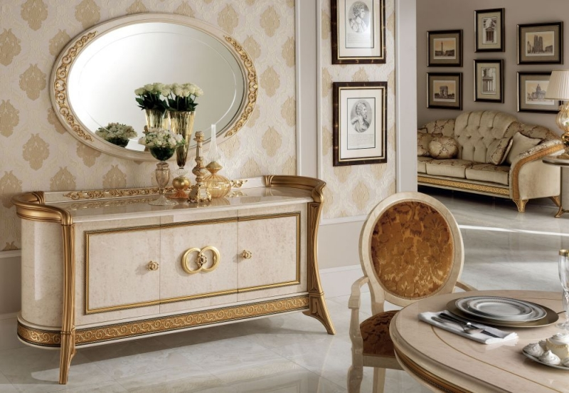 Arredoclassic Melodia Golden Italian Oval Large Mirror