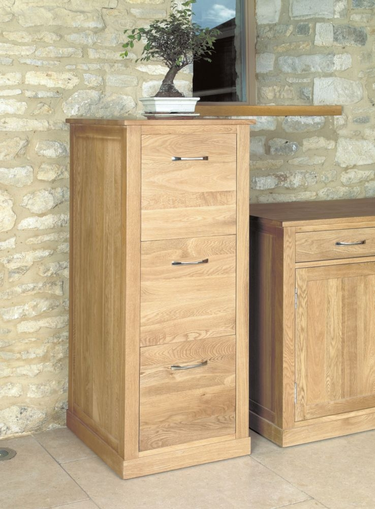 Buy baumhaus mobel oak 3 drawer filing cabinet online cfs uk for Mobel