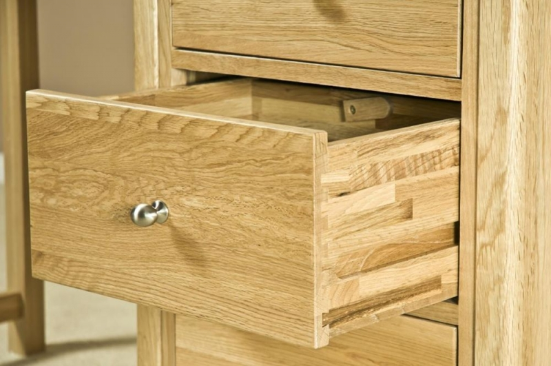 Tuscany Oak Single Pedestal Dressing Table