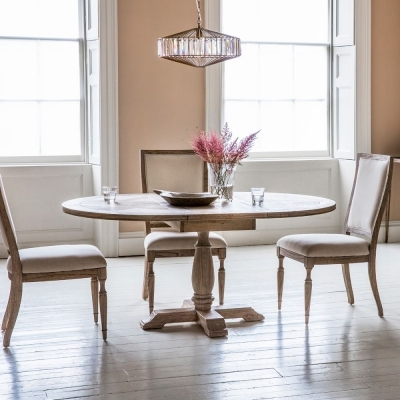 Hudson Living Mustique Round Extending Dining Table