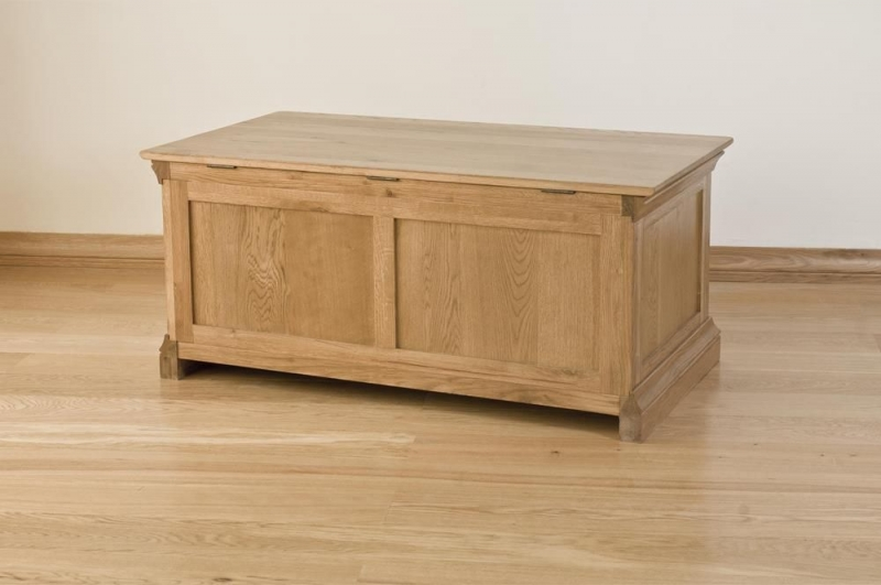 Bordeaux Oak Blanket Box