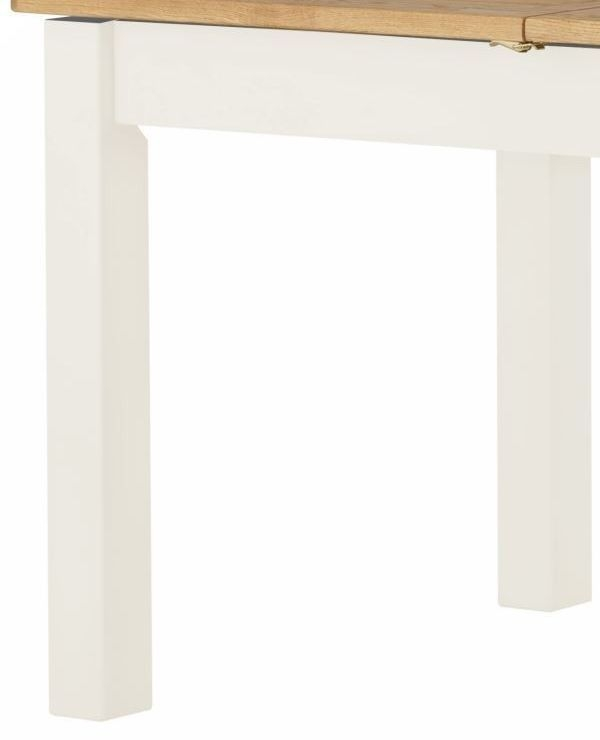Portland White Painted 120cm-200cm Draw Leaf Extending Dining Table