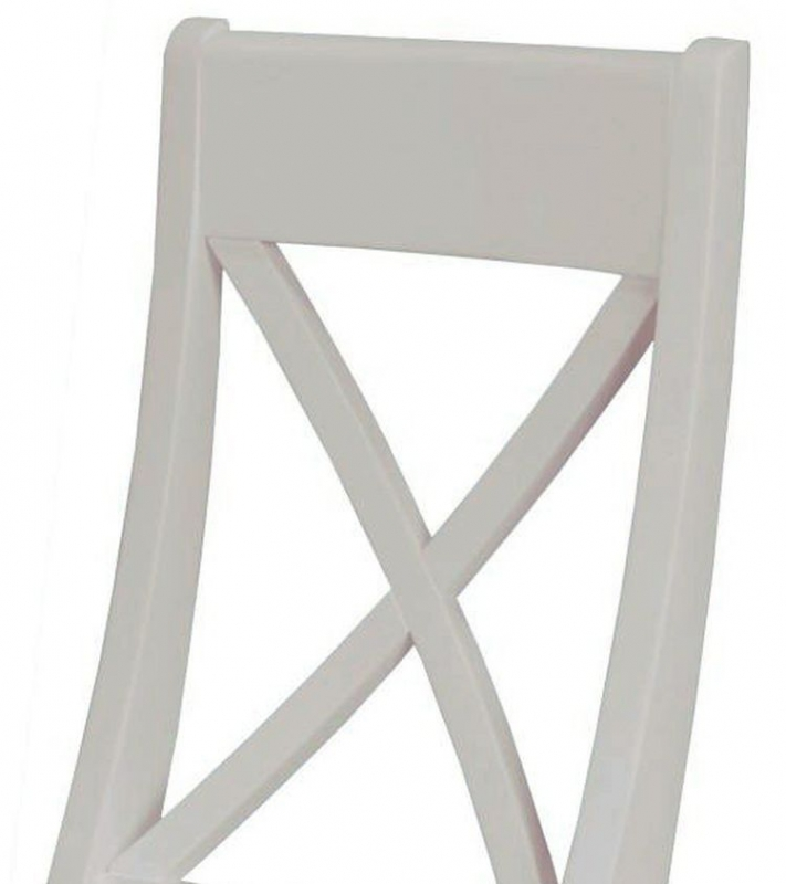 Portland Stone Painted Cross Back Dining Chair (Pair)