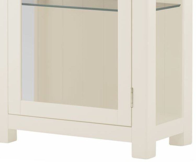 Portland Oak and White Painted Glazed Display Cabinet