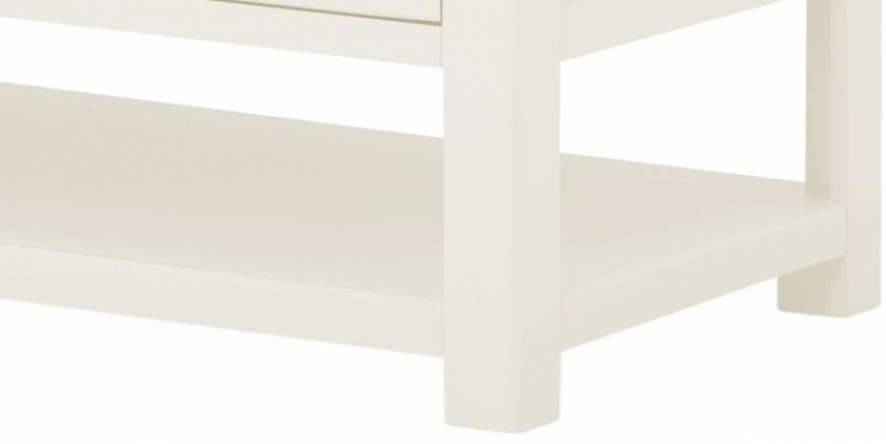 Portland White Painted 2 Drawer Coffee Table
