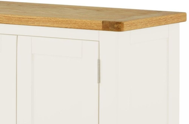 Portland Large Hall Cabinet - Oak and White Painted