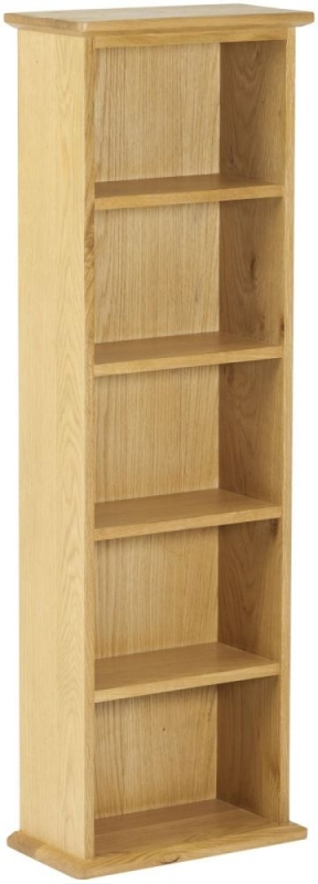 Nordic Oak Double DVD Tower