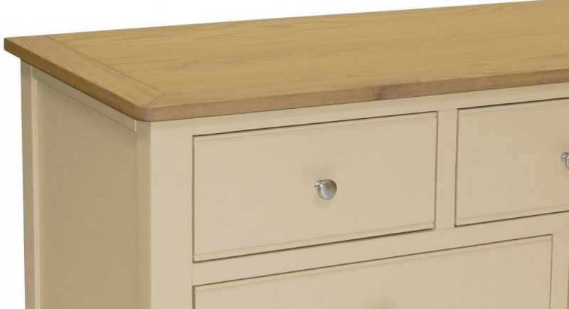 Harmony Cobblestone Oak and Painted 3+4 Drawer Chest