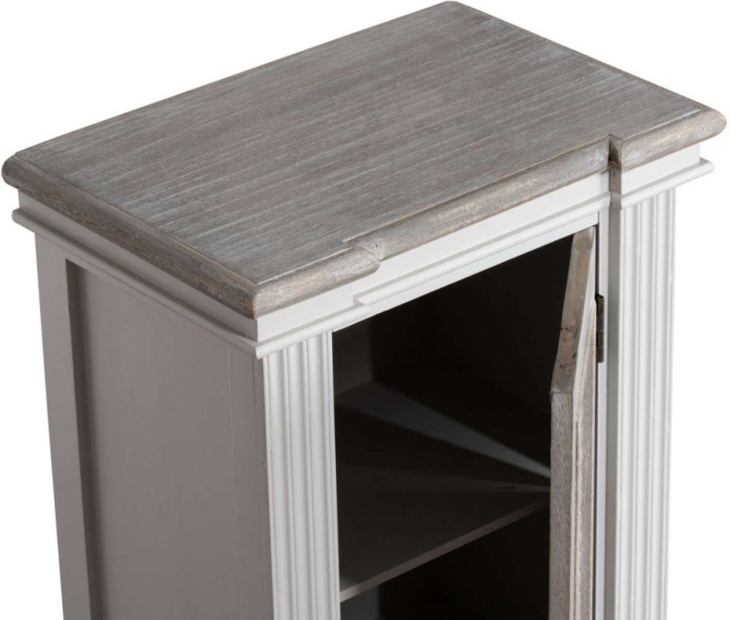 Hill Interiors Liberty White Painted Storage Louvred Cabinet