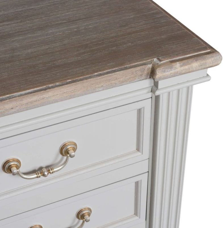 Hill Interiors Liberty White Painted 2+3 Drawer Chest