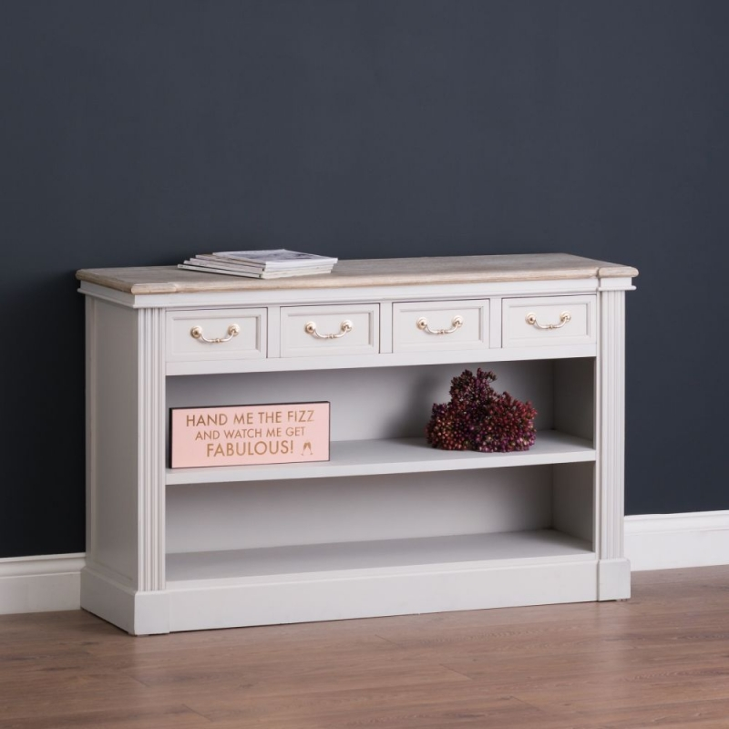 Hill Interiors Liberty White Painted Low Bookcase