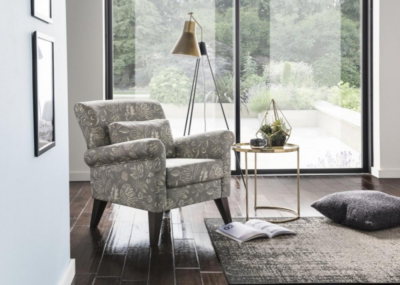 Bloxham Accent Chair - Amore Dove Fabric