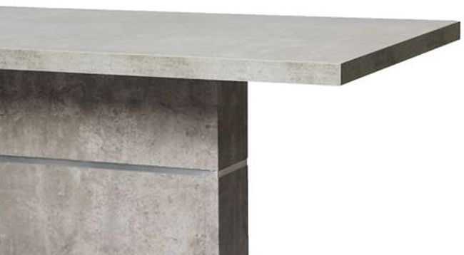 Seattle Concrete Dining Table and 4 Grey Faux Leather Chairs