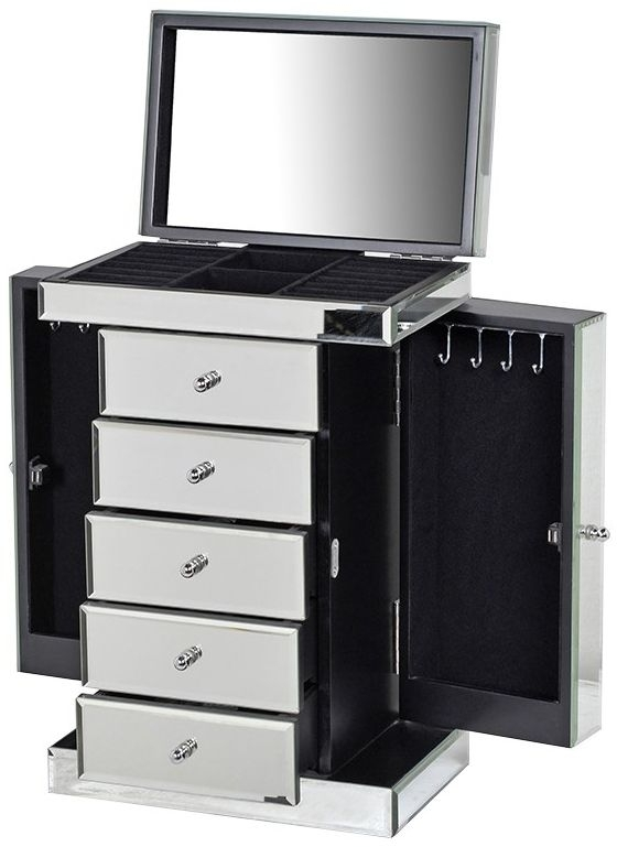 Clearance Venetian Mirrored Jewellery Chest of Drawer - 2232