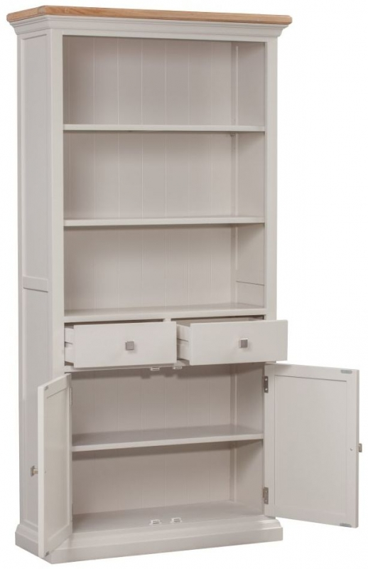 Homestyle GB Cotswold Painted 2 Door 2 Drawer Bookcase