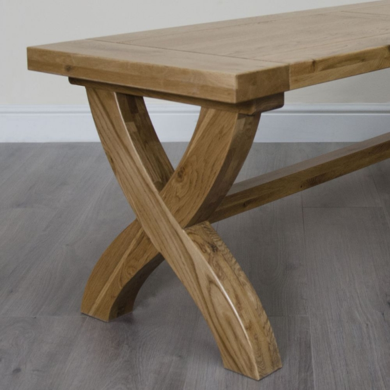 Homestyle GB Deluxe Oak X Leg Bench