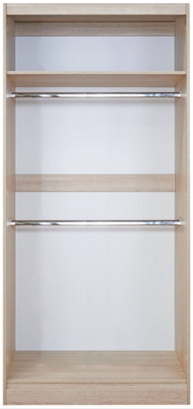 Balmoral High Gloss Kaschmir 2 Door Wide Sliding Wardrobe