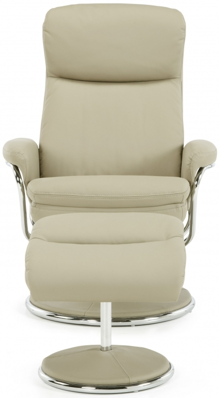 Serene Halden Taupe Faux Leather Recliner Chair