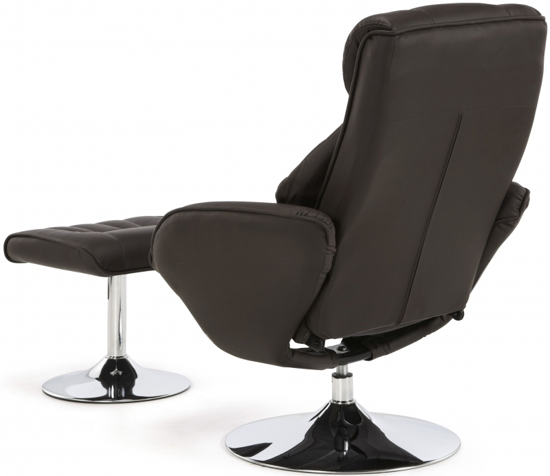 Serene Larvik Brown Faux Leather Recliner Chair